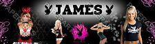 Personalized Playboy Name Poster Room Decor Banner - Glossy