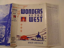 Wonders of the West, Oren Arnold, Dust Jacket Only