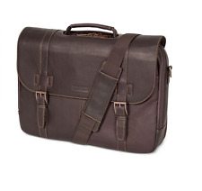 Kenneth Cole REACTION Colombian Brown Leather Business Messenger Bag Brief $460