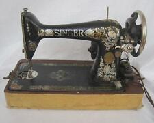 Singer Model 66-1 1911 Red Eye sewing machine & case  #G1212307  Needs Work