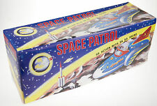 SPACE PATROL TIN TOY CLOCKWORK  COLLECTABLE  FRICTION MOTOR  CLACK CLACK SOUND