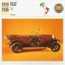1919-1926 FIAT 501 #1 Classic Car Photograph / Information Maxi Card