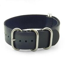 StrapsCo Burnt Faded Vintage Style Leather Mens Watch Band Strap