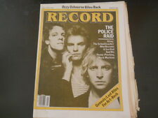 The Police, Genesis, Ozzy Osbourne - Record Magazine 1982