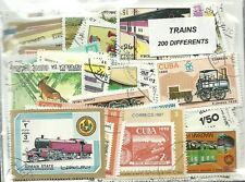 """Lot timbres thematique """" Trains"""""""