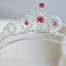 Bling Pretty Bridal Pink Crystal Rhinestone Tiara Crown Headband