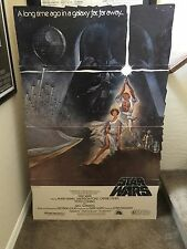 Vintage Star Wars 1977 Theater Lobby Movie Standee Poster Rare Hildebrandt =
