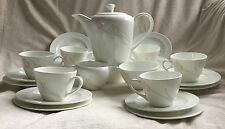 WEDGWOOD TRYST COFFEE SET FOR 6 COFFEE POT 6 CUPS SAUCERS PLATES SUGAR CREAMER