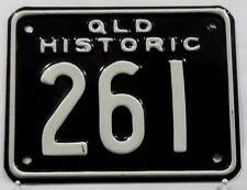 """Nummernschild Australien Queensland """"HISTORIC"""" 1998 für Motorrad. 11972."""