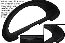 BLACK Stitch accoppiamenti CITROEN SAXO 96-04 Gauge Speedo Trim Surround copertura di cuoio