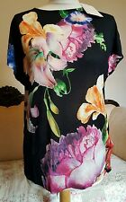 TED BAKER WOESY T-SHIRT TOP IN TAPESTRY FLORAL PRINT NEW SIZE 2 UK 10 loose fit