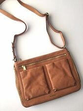 Fossil Camel Leather Piper Small Messenger Crossbody Shoulder Bag ZB6816235 NWT