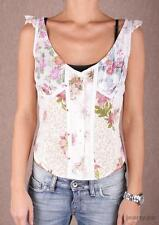 Replay Button front Floral Vest Top Small Box1250 L