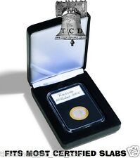 Lighthouse NOBILE SINGLE SLAB Coin Display Certified Box Leather For PCGS NGC