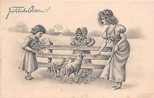Vienne Postkarte Fröhliche Ostern  gel.1909 Altenburg
