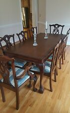 antique mahogany dining table and chairs