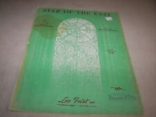 Star Of The East Amanda Kennedy George Cooper Sheet Music Vintage Leo Feist
