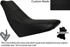 BLACK STITCH CUSTOM FITS HUSQVARNA TE 610 E DUAL LEATHER SEAT COVER