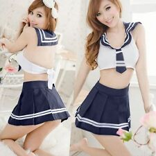 Japanese Lady's Cosplay Wear Student Clothing Sexy Uniforms Costume Sailor Suit