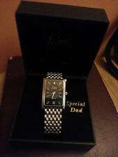 LIMIT MEN'S SILVER Colour 'SPECIAL DAD' DIAMOND WATCH SET