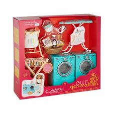 OUR GENERATION LAUNDRY SET - WASHING IRONING DOLLS PLAYSET ACCESSORIES TOY GIFT