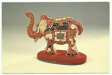 Radio Beijing, China QSL card 1990, embroidered cloth elephant