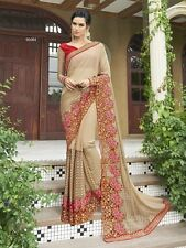 Georgette chiffon net lycra sari/saree Indian ethnic wear with blouse fabric Y08
