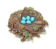 Heidi Daus On a Lark Bird's Nest Pin SWAROVSKI CRYSTAL SIMPLY GORGEOUS RET $160!