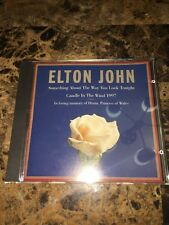 SOMETHING ABOUT THE WAY YOU LOOK TONIGHT/CANDLE IN THE WIND 1997 ELTON JOHN SS