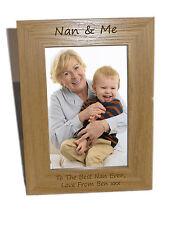Nan & me in legno Cornice foto 5x7-personalizzare questo riquadro-INCISIONE GRATUITA