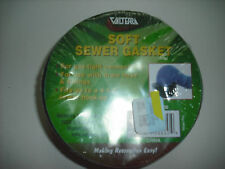 RV - Sewer Hole Donut - Soft Rubber Ring to Stop Sewer Odors at Campsite - Black
