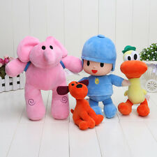 SET 4 POCOYO - LOTE DE PELUCHES STUFFED PLUSH POCOYO PATO ELLY LOULA 4 PCS TOY