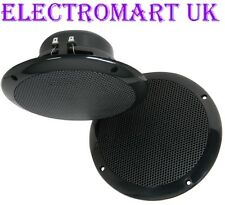 "FULL RANGE CEILING SPEAKERS 6.5"" 100W BLACK KITCHEN BATHROOM ETC"