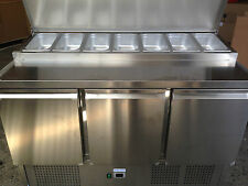 PS-300  SALADETTE PIZZA BAR PREP  BENCH FRIDGE 3 DOORS 7 TRAYS 1360mm LONG