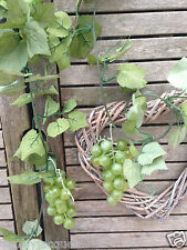 Artificial Wired Fruit Grape Vine Garland - Green Grape Bunches 180 cm