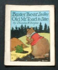 1922 Burgess/Cady mini BUSTER BEAR INVITES OLD MR. TOAD TO DINE