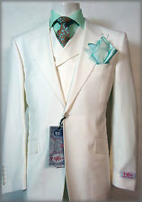 TIGLIO ROSSO 3 PCS SUIT~46R/46L~SOLID WHITE~MADE IN ITALY~RETAIL $699