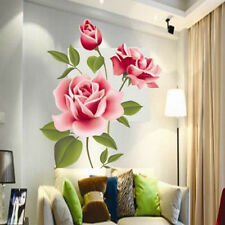 DIY Art Decoration Rose Flower Wall Quote Stickers Removable Decal Home Decor