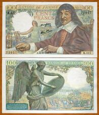 France, 100 francs, 1944, P-101 (101a)  WWII, Rare in UNC