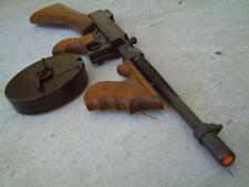 1928 Thompson Tommy Gun Gangster Machine Official Non Firing Metal PROP Wood