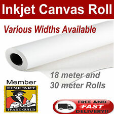 "Print Polyester Matte Inkjet Printer Canvas Roll 42"" x 18m All Sizes Available"