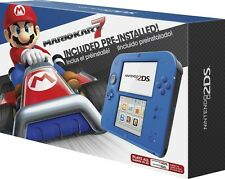 New! Nintendo 2DS Electric Blue with Mario Kart 7 Bundle Console Ships Worldwide