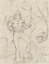SIGNED BY BARRY WINDSOR SMITH - ORIGINAL CONAN THE BARBARIAN PENCIL DRAWING