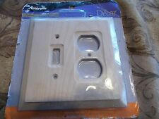 Amerelle 180TD Paintable Stainable Unfinished Toggle Duplex Wall Plate Outlet