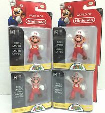 "*Nintendo Super Mario Bros 2.5"" Action Figure Fire Mario x 4 -Cute Doll, Quality"