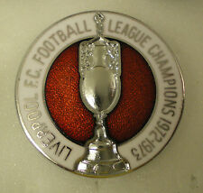 LIVERPOOL F.C. FOOTBALL LEAGUE CHAMPIONS 1972 - 1973 Enamel Lapel Pin Badge