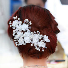 New Wedding Flower Beauty Crystal Headband Fashion Hair Accessories Clip us