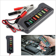 12V Battery Alternator Test Tester Car Van Motorbike 6 LED Display Indicators