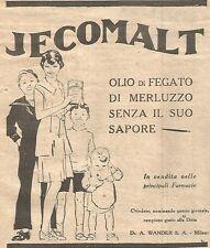W4256 Olio di fegato di merluzzo JECOMALT - Pubblicità del 1930 - Vintage advert