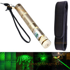 High Power 10 Miles Green Laser Pointer pen 532nm 1mW Adjust Lazer Light+Holster